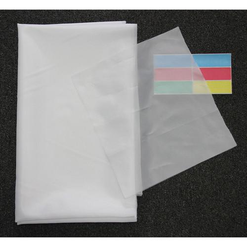 """ALZO Silk Diffusion Fabric (72 x 60"""", White)"""