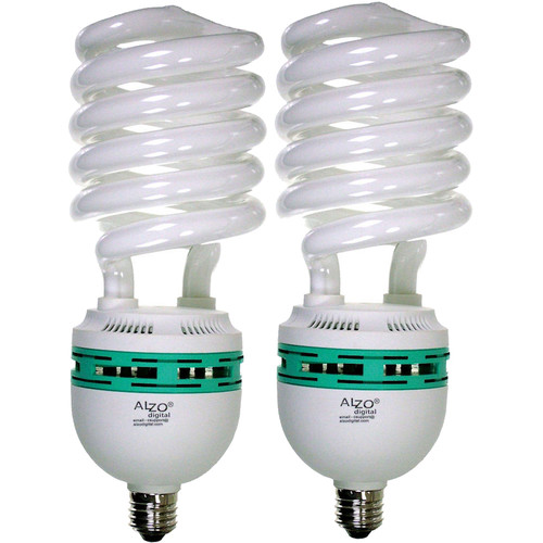 ALZO 120V CFL Video-Lux Photo Light Bulb (5600K, 85W, 2-Pack)
