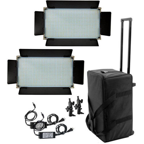 ALZO 16x9 Two LED 800 Panel Light Kit