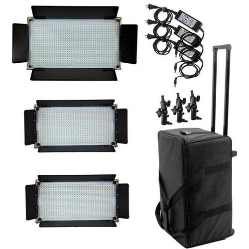 ALZO 16 x 9 LED Panel 3-Light 830 Kit