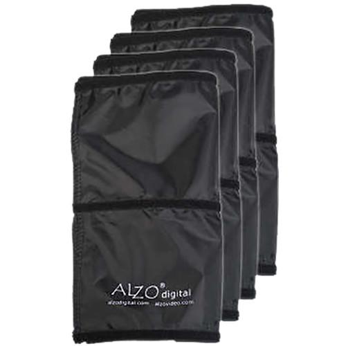 ALZO Fabric Flag for Drum Overhead Light (Set of 4, Black)
