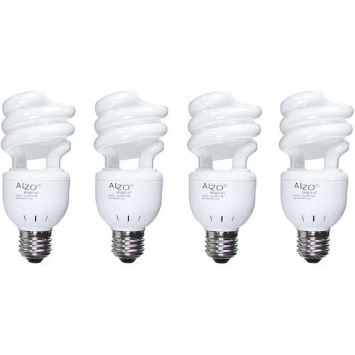 ALZO CFL VIDEO-LUX Photo Light Bulb (15W, 120V, 4-Pack)