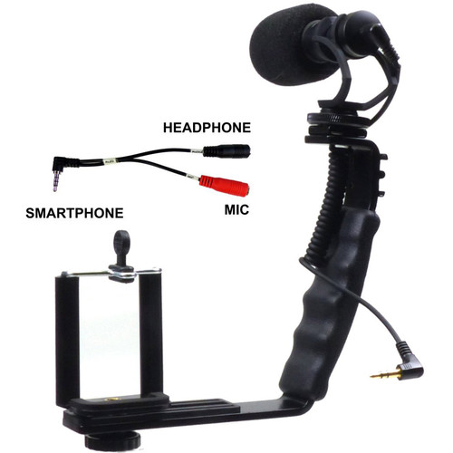 ALZO Smartphone Streaming Video Rig with Mic & Y-Cord