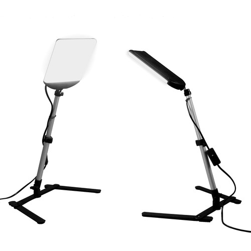 ALZO 100 LED 2-Light Kit with Table Stands for Product Photography