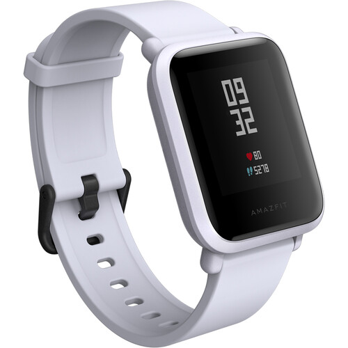 Amazfit Bip Smartwatch (White Cloud, White Silicone Band)