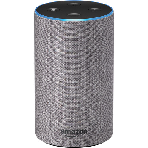 Amazon Echo (2nd Generation, Heather Gray Fabric)