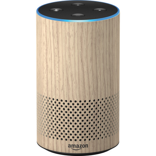 Amazon Echo (2nd Generation, Oak Finish)