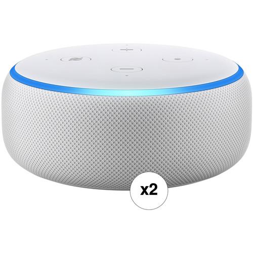 Amazon Echo Dot Pair Kit (3rd Generation, Sandstone)