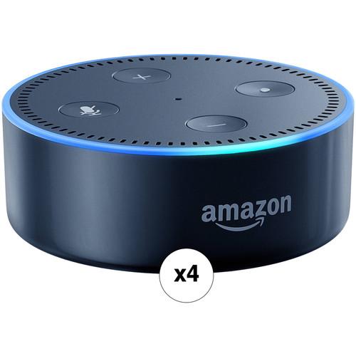 Amazon Echo Dot Quad Kit (2nd Generation, Black)