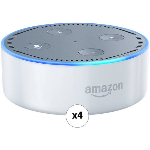 Amazon Echo Dot Quad Kit (2nd Generation, White)