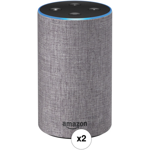 Amazon Echo Pair Kit (Heather Gray Fabric)