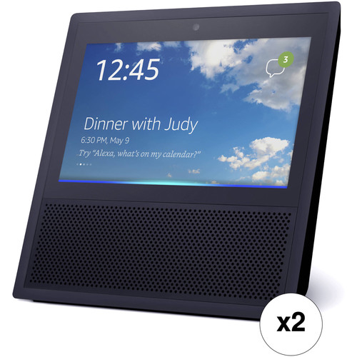 Amazon Echo Show (2-Pack, Black)
