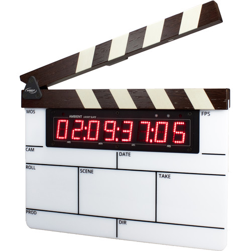 Ambient Recording ACN-LSW Lockit Slate with Modular Timecode and Display (Maple Wood)