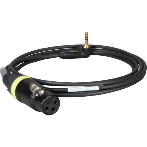 "Ambient Recording AK-XLR3F/3.5-90 EOS, 3-Pin XLRF to 1/8"" Stereo Plug Right Angle"