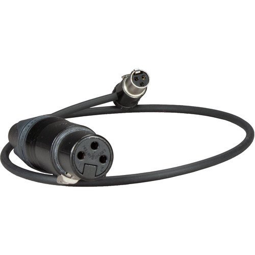"Ambient Recording 3-Pin XLR Female to Short Right Angle TA3F Adapter Cable (Right Exit, 15.7"")"