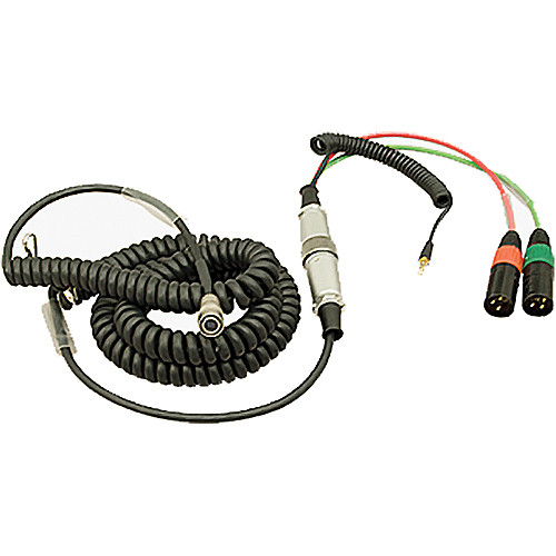 Ambient Recording HBS12HY10-35 Hirose 12-Pin Male to Hirose 10-Pin Female Coiled Breakaway Cable with Y Cable (4.6 to 16.4')