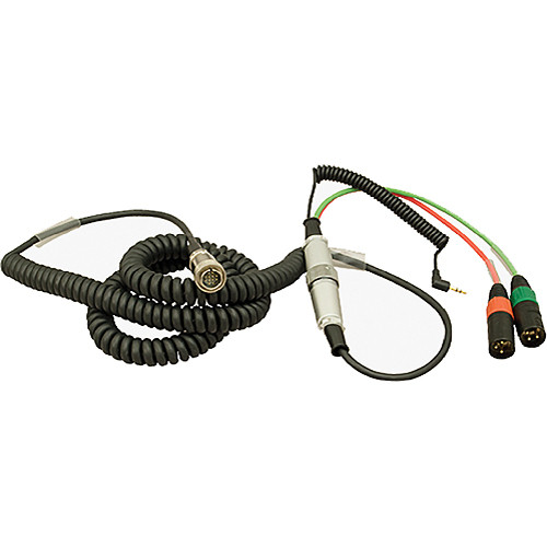 Ambient Recording 12-Pin Tajimi Male to 7-Pin XLR Male Coiled Breakaway Cable with HBY10-35W Y-Cable (4.5 to 16.4')
