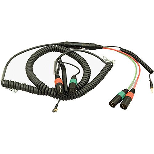 Ambient Recording Dual 3-Pin XLR-F + TRS Mini Plug to 7-Pin XLR-M Breakaway Cable (5.9 to 13.1')