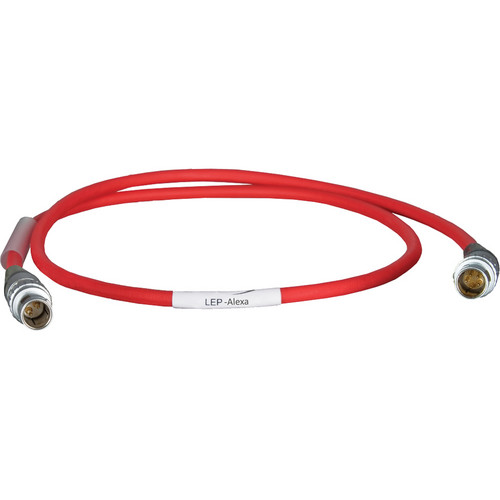 """Ambient Recording LEP/ALEXA 2-Pin LEMO to 5-Pin LEMO Power Cable (19.7"""", Red)"""