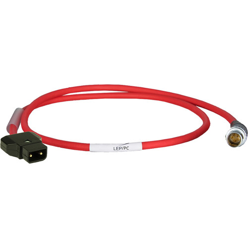 """Ambient Recording LEP/PC D-Tap to 5-Pin LEMO Power Cable (19.7"""", Red)"""