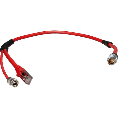 "Ambient Recording MLC-L1B10P Master Lockit to Arri Alexa Ethernet/Power Cable (Red, 19.7"")"