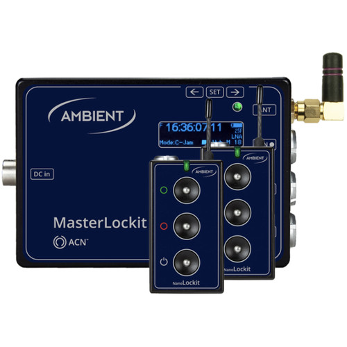 Ambient Recording NanoLockit Value Pack 1 with MasterLockit Timecode Hub Transceiver