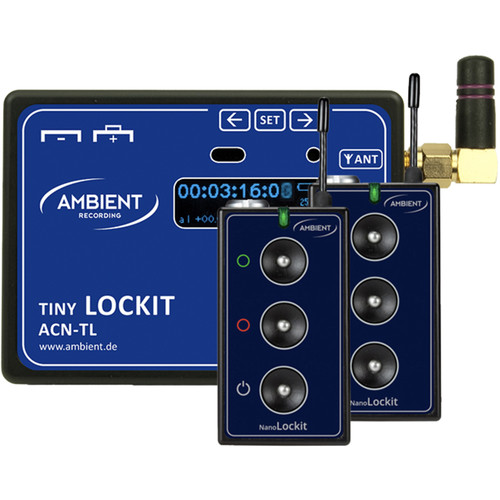 Ambient Recording NanoLockit Value Pack 2 with TinyLockit Timecode Generator & Transceiver