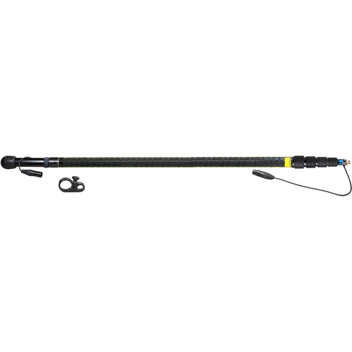 Ambient Recording QXS 5100 Quickpole Light Boompole with Mono Cable (Coiled, Side Outlet)