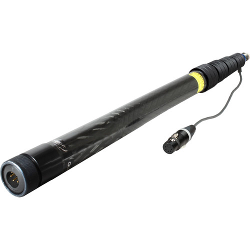 Ambient Recording QXS 550 Quickpole Light Boompole with Stereo Cable (Coiled, Bottom Outlet)