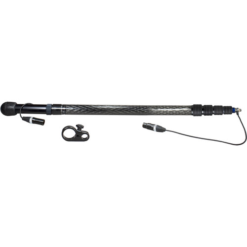 Ambient Recording QXS 565 Quickpole Light Boompole with Stereo Cable (Coiled, Side Outlet)