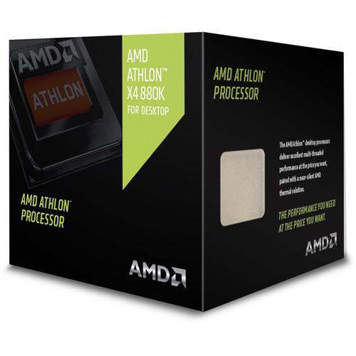 AMD Athlon X4 Series 880K Quad-Core 4 GHz CPU with Near Silent Thermal Solution