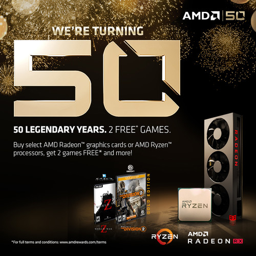 AMD 50th Anniversary Game Bundle
