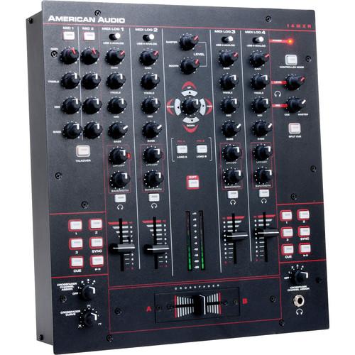 "American Audio 14"" MXR 4-Channel MIDILOG Analog/MIDI Mixer"