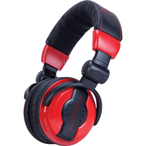 American Audio HP 550 Pro DJ Headphones (Lava)