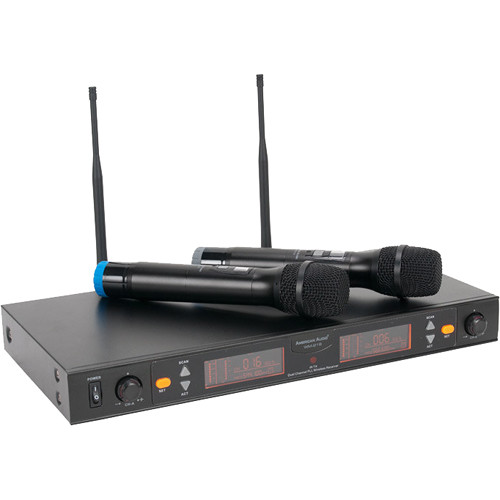 American Audio WM-219 Two-Channel UHF Wireless Handheld Microphone System