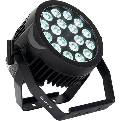 American DJ 18P HEX IP Heavy-Duty RGBAW+UV LED Wash Light (IP65)