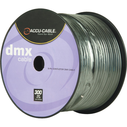 American DJ Accu-Cable 5-Conductor DMX Cable Spool (300')