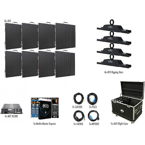 American DJ AV3 4x2 LED Video Wall Kit (8 Panels)