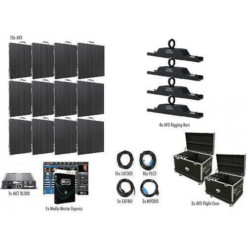 American DJ AV3 4x3 LED Video Wall Kit (12 Panels)