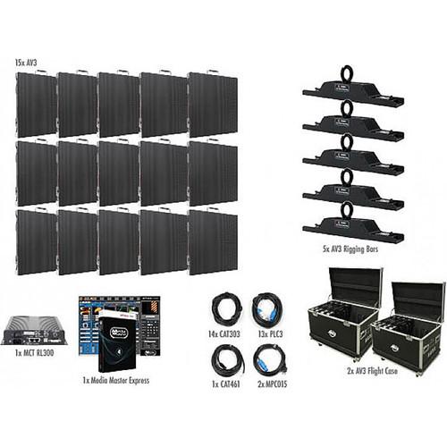 American DJ AV3 5x3 LED Video Wall Kit (15 Panels)