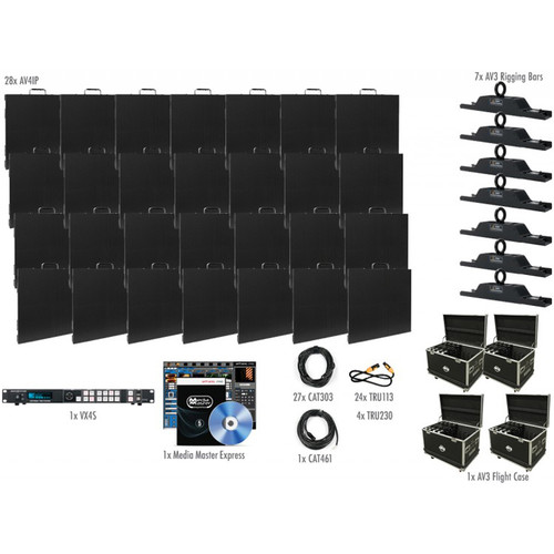 American DJ AV4IP Video Panel System (28 Panels)