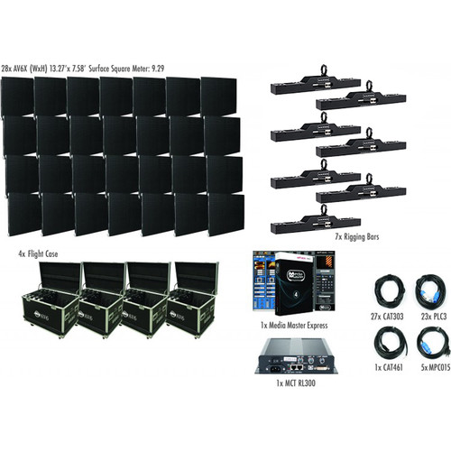 American DJ AV6X LED Video Wall Kit (28 Panels)