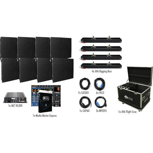 American DJ AV6X LED Video Wall Kit (8 Panels)