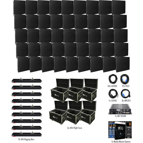 American DJ AV6X LED Video Wall Kit (45 Panels)