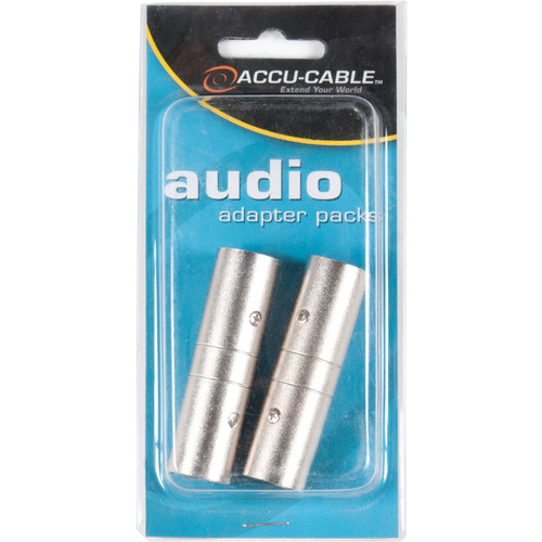 American DJ 3-Pin XLR Male to 3-Pin XLR Male Adapter (2-Pack)