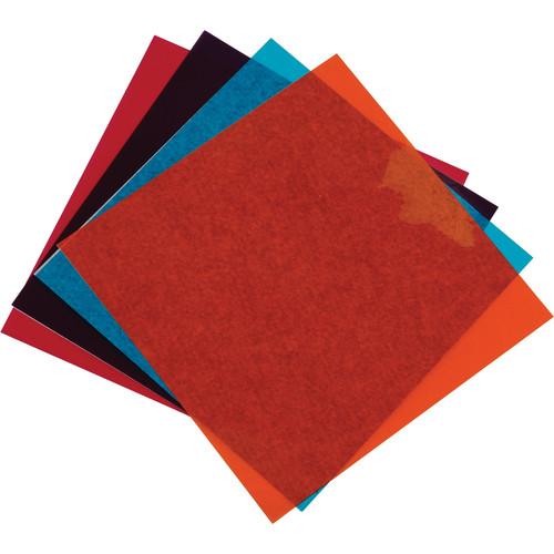 "American DJ 9"" x 9"" Par 64 Gel Frame - Pack B (Amber, Turquoise, Mauve, Pink)"