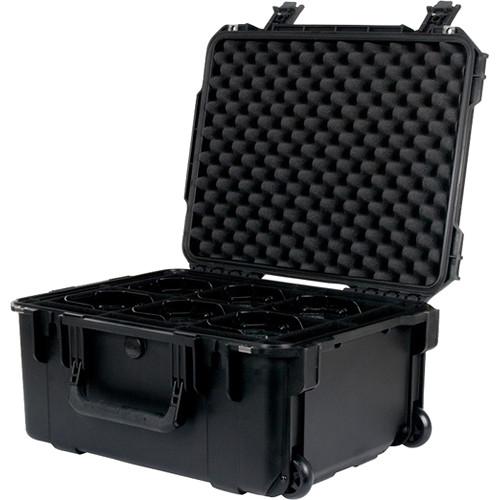 American DJ Wheeled Element PC6 Case for Six ADJ Par Fixtures (Black)