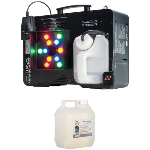 American DJ Fog Fury Jett RGBA LED Fog Machine and Fluid Kit