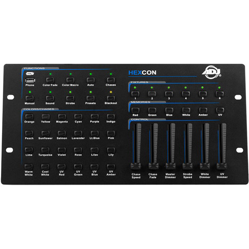 American DJ Hexcon 36-Channel DMX Controller for Hex Series Wash Lighting
