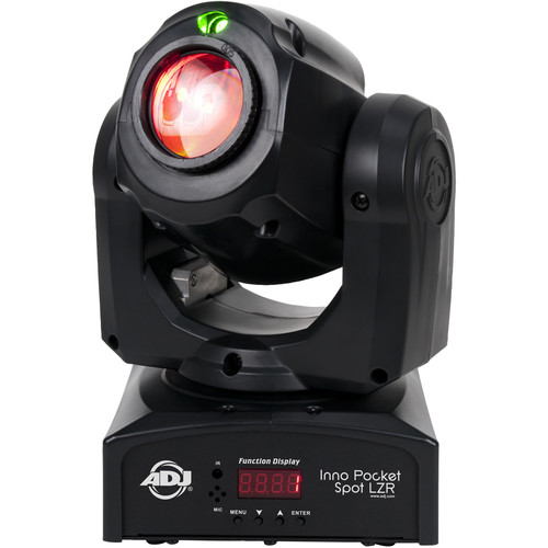 American DJ Inno Pocket Spot LZR - Compact LED Moving Head Light with Green Laser